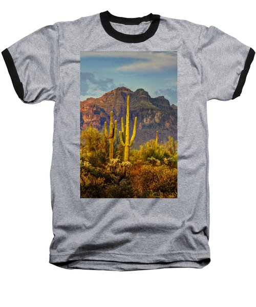 The Desert Golden Hour II  Baseball T-Shirt