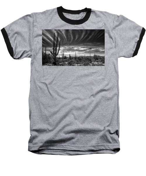The Desert In Black And White Baseball T-Shirt