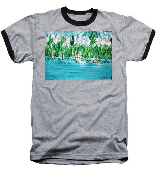 The Docks Baseball T-Shirt by George Riney