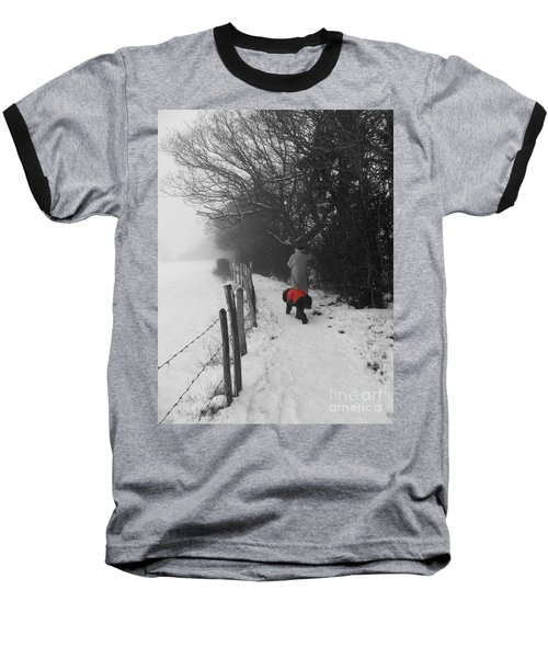 Baseball T-Shirt featuring the photograph The Dog In The Red Coat by Vicki Spindler