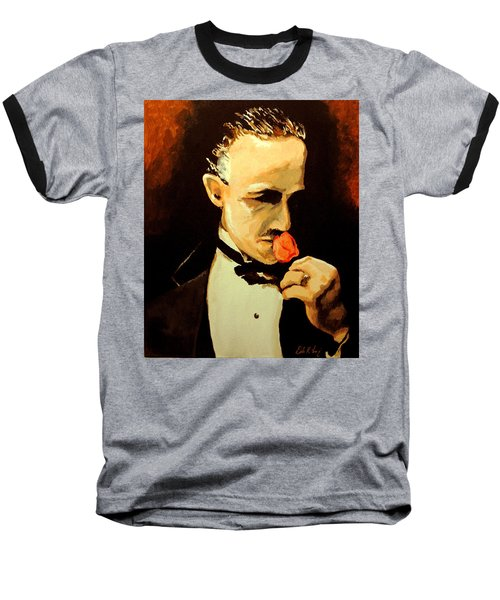 The Don And The Rose Baseball T-Shirt by Dale Loos Jr