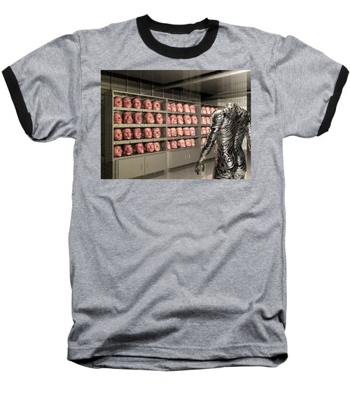 Baseball T-Shirt featuring the digital art The Doppleganger by John Alexander