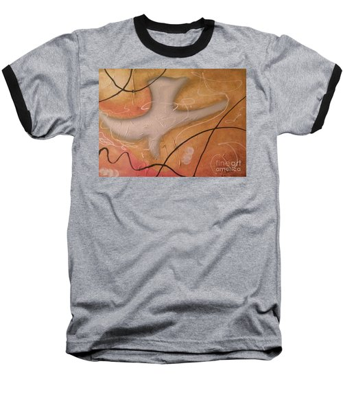 The Dove Religious Abstract Art By Saribelle  Baseball T-Shirt