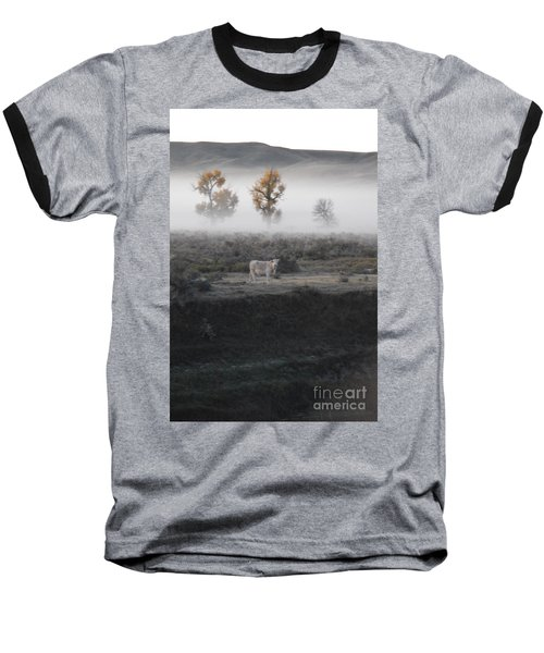Baseball T-Shirt featuring the photograph The Dream Cow Of Mourning by Brian Boyle