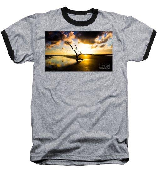 The Driftwood Tree Folly Beach Baseball T-Shirt