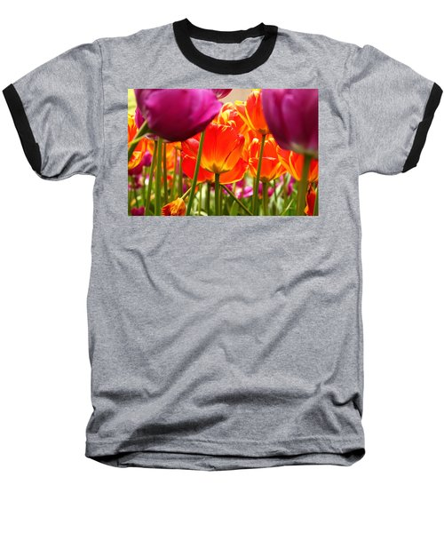 The Drooping Tulip Baseball T-Shirt