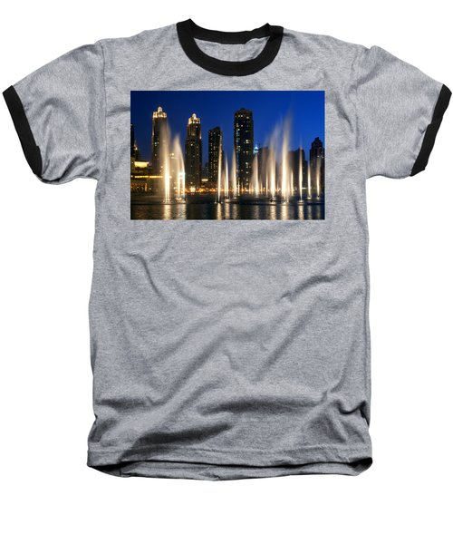 The Dubai Fountains Baseball T-Shirt