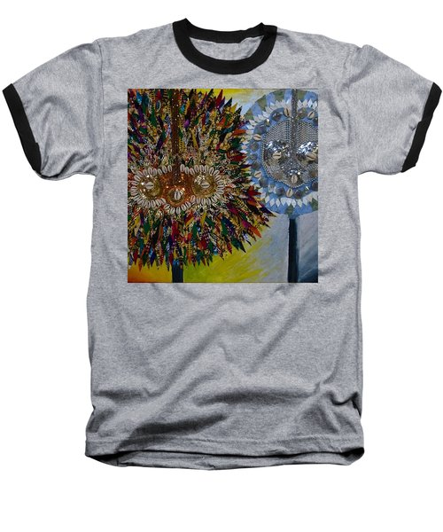 Baseball T-Shirt featuring the tapestry - textile The Egungun by Apanaki Temitayo M