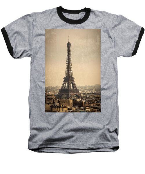 The Eiffel Tower In Paris France Baseball T-Shirt