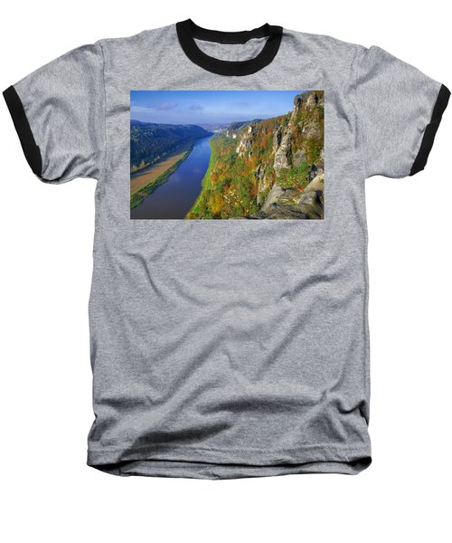 The Elbe Sandstone Mountains Along The Elbe River Baseball T-Shirt