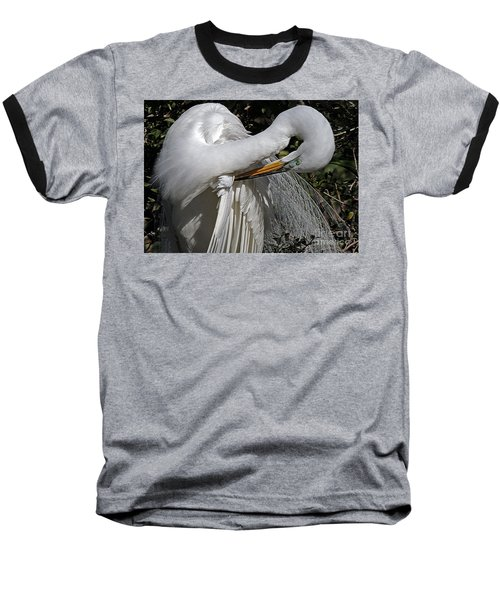 The Elegant Egret Baseball T-Shirt
