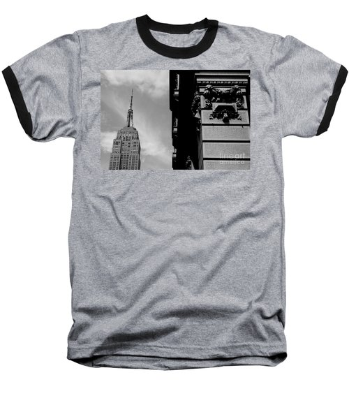 Baseball T-Shirt featuring the photograph The Empire State Building by Steven Macanka