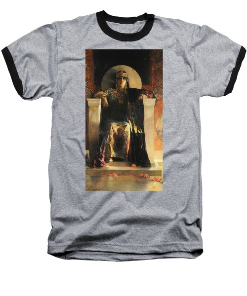 The Empress Theodora Baseball T-Shirt by Jean-Joseph Benjamin-Constant