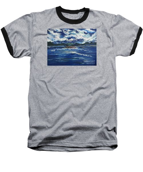 Baseball T-Shirt featuring the painting The Enchanting Sea  by Lori  Lovetere