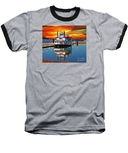 The End Of A Beautiful Day In The San Francisco Bay Baseball T-Shirt by Jim Fitzpatrick