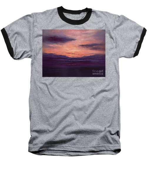 The End Of A Perfect Day Baseball T-Shirt by Valerie Travers
