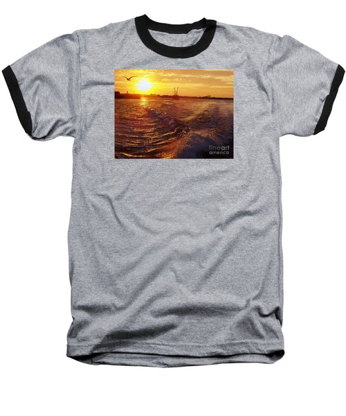 Baseball T-Shirt featuring the photograph The End To A Fishing Day by John Telfer