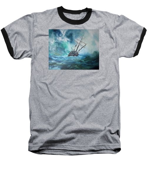 The Endurance At Sea Baseball T-Shirt by Jean Walker