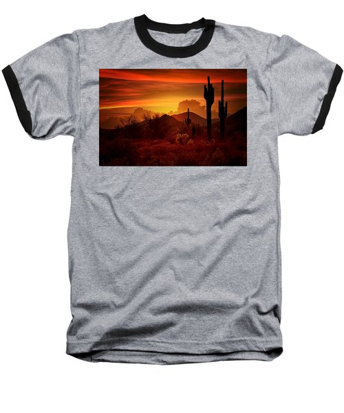 The Essence Of The Southwest Baseball T-Shirt by Saija  Lehtonen