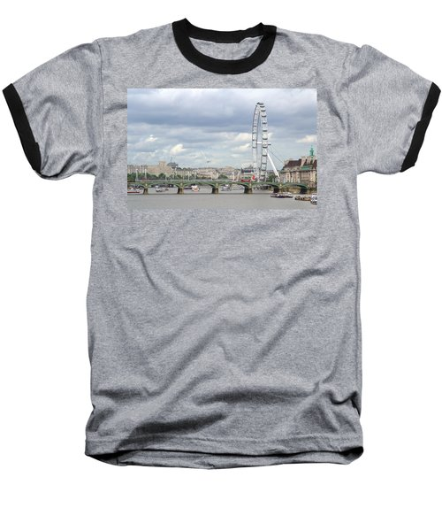 Baseball T-Shirt featuring the photograph The Eye Of London by Keith Armstrong