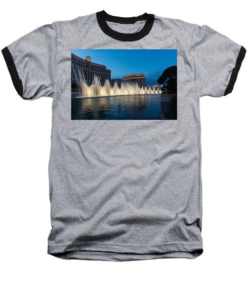 The Fabulous Fountains At Bellagio - Las Vegas Baseball T-Shirt