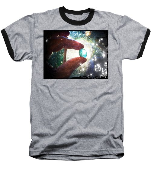 Baseball T-Shirt featuring the photograph The Fairy Stone - Nature Angel  by Absinthe Art By Michelle LeAnn Scott