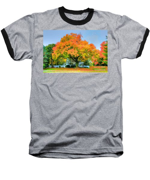 Baseball T-Shirt featuring the photograph The Family Tree In Autumn by Robert Pearson