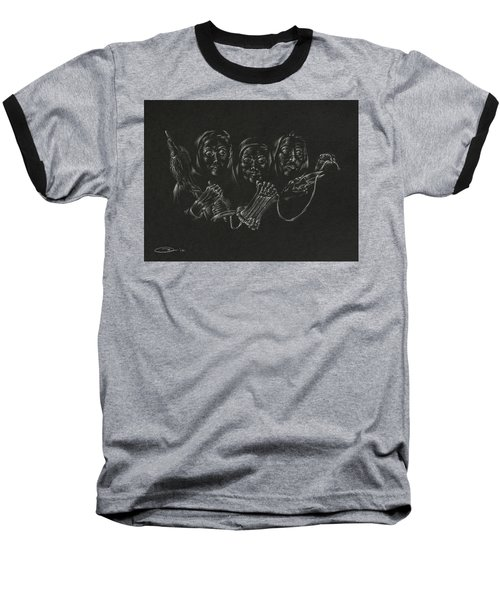 Baseball T-Shirt featuring the drawing The Fates by Michele Myers