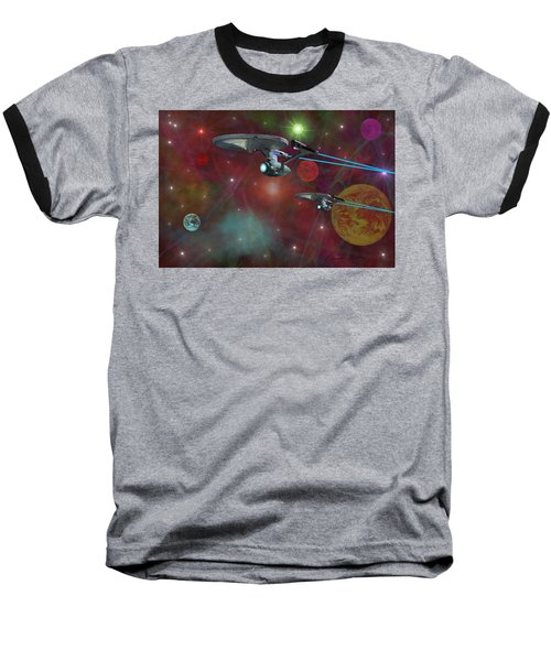 Baseball T-Shirt featuring the digital art The Final Frontier by Michael Rucker