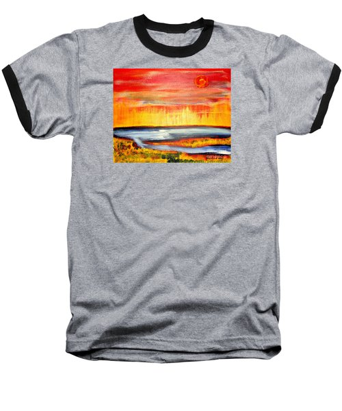 Baseball T-Shirt featuring the painting The First Handcart Is Faith by Richard W Linford