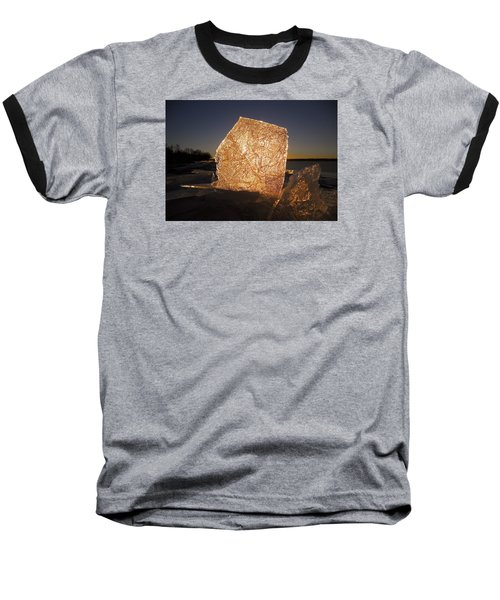 Baseball T-Shirt featuring the photograph The First Ice ... by Juergen Weiss