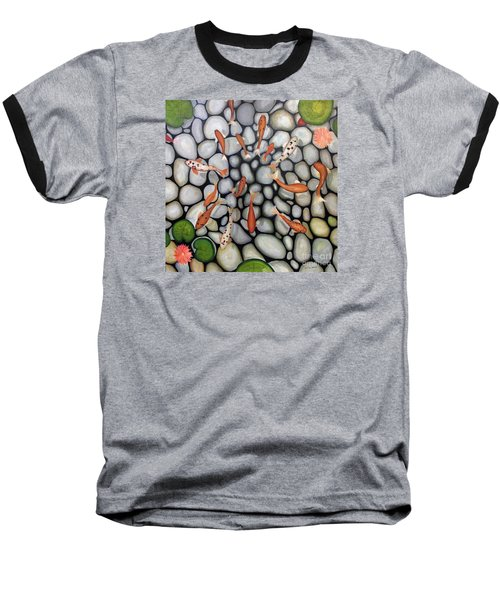Baseball T-Shirt featuring the painting The Fish Pond by John Stuart Webbstock