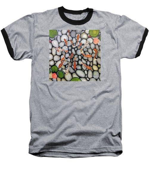 The Fish Pond Baseball T-Shirt by John Stuart Webbstock