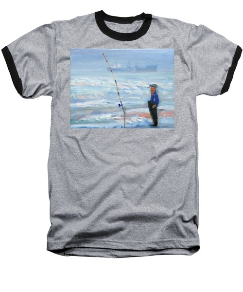 The Fishing Man Baseball T-Shirt