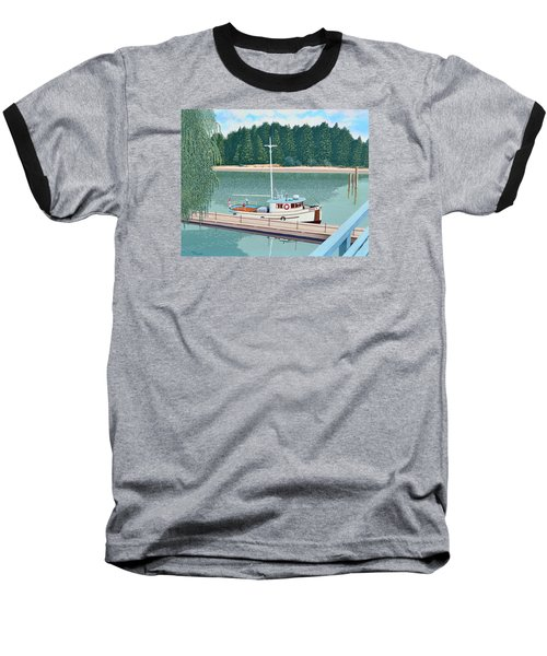 Baseball T-Shirt featuring the painting The Converted Fishing Trawler Gulvik by Gary Giacomelli