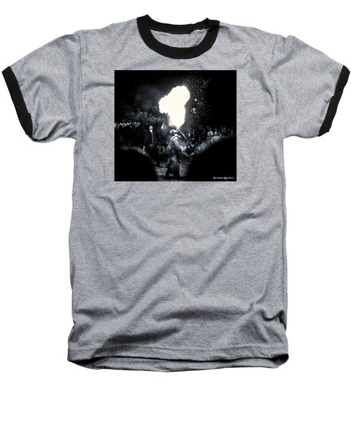 Baseball T-Shirt featuring the photograph The Flare Thrower by Stwayne Keubrick