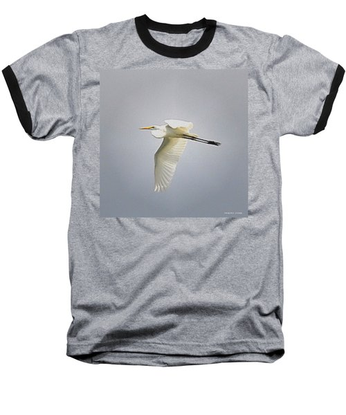 The Flight Of The Great Egret With The Stained Glass Look Baseball T-Shirt