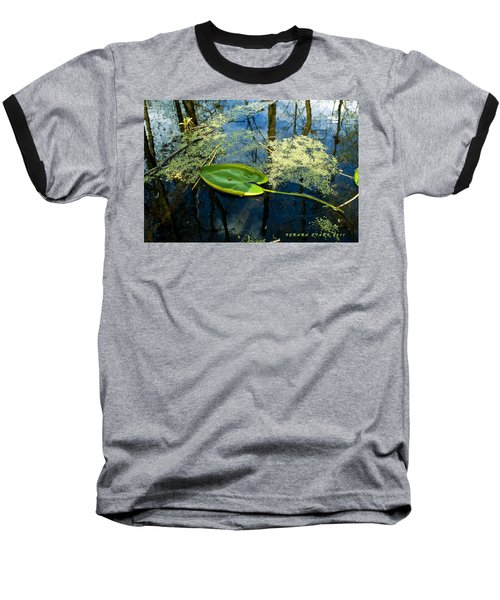 Baseball T-Shirt featuring the photograph The Floating Leaf Of A Water Lily by Verana Stark