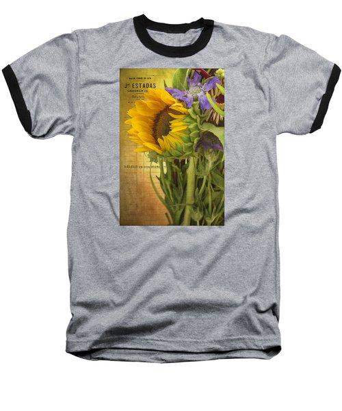 Baseball T-Shirt featuring the photograph The Flower Market by Priscilla Burgers