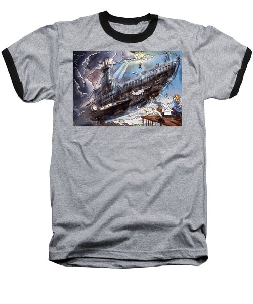 The Flying Submarine Baseball T-Shirt