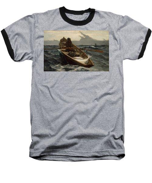 The Fog Warning .halibut Fishing Baseball T-Shirt
