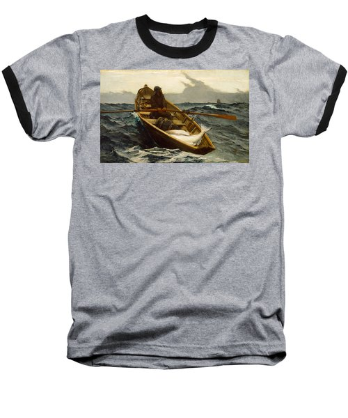 The Fog Warning Baseball T-Shirt by Winslow Homer