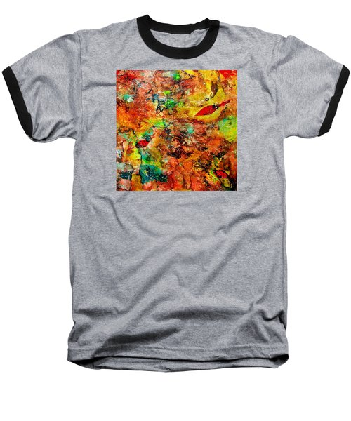 Baseball T-Shirt featuring the painting The Forest Floor by Carolyn Repka
