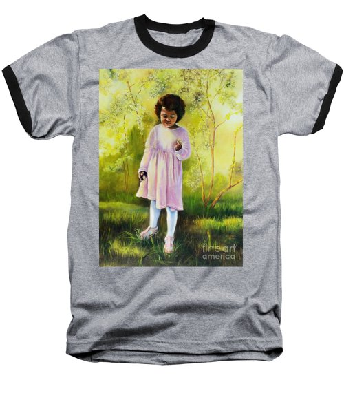 Baseball T-Shirt featuring the painting The Forsythia by Marlene Book