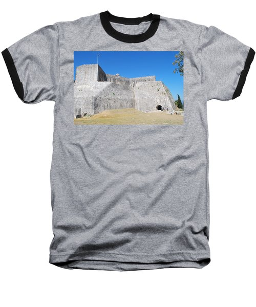 Baseball T-Shirt featuring the photograph The Fort Never Fell by George Katechis