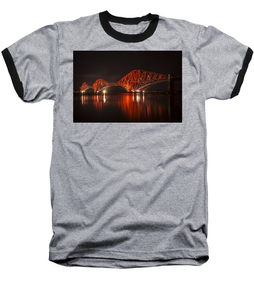 The Forth Bridge By Night Baseball T-Shirt