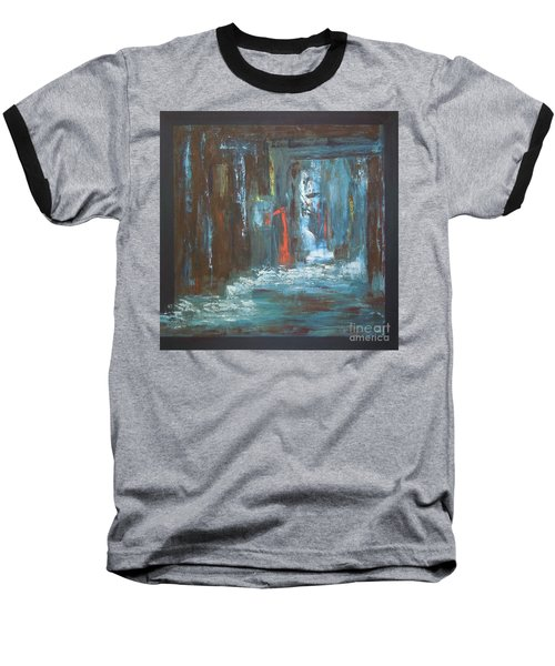 Baseball T-Shirt featuring the painting The Free Passage by Mini Arora