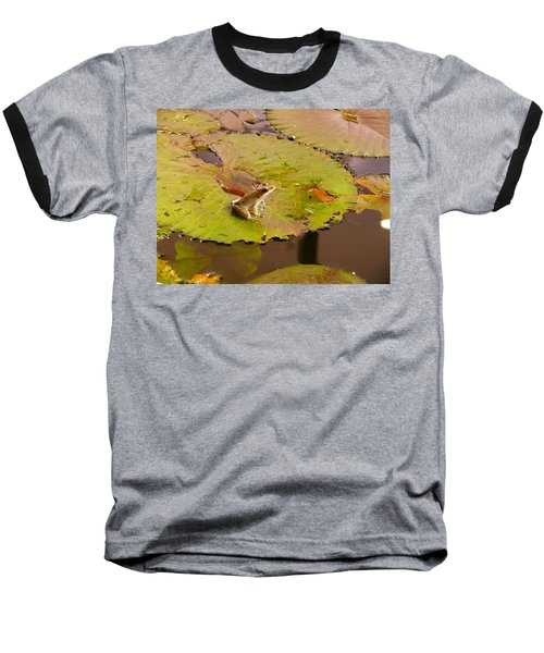 Baseball T-Shirt featuring the photograph The Frog by Evelyn Tambour