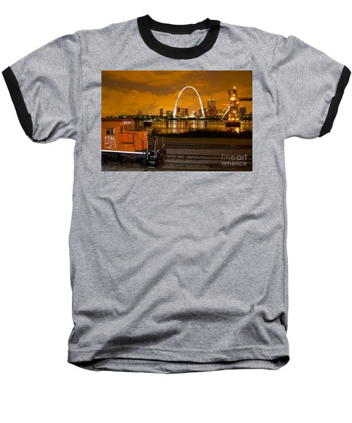 The Ftrl Railway With St Louis In The Background Baseball T-Shirt
