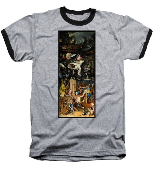 The Garden Of Earthly Delights. Right Panel Baseball T-Shirt by Hieronymus Bosch